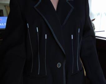ESCADA MARGARETHA Ley Made In Germany Pant Suit 1990's -ESCADA Suit- Escada Fashion For Business-Escada Couture