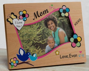 Mother's Day Picture Frame, Personalized Mother's Day Picture Frame, First Mother's Day Frame, Happy Mother's Day Picture Frame, Mom Frame