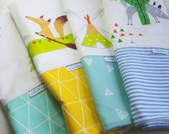Baby boy blanket - Baby blanket - Flannel Blanket - Baby girl blanket - Swaddle blanket- Security Blanket - Travel blanket - Woodland