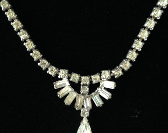 Vintage Sherman Vintage collier - Sherman bijoux - Vintage strass collier-Gustave Sherman-collier mariée collier-fabriqué au Canada