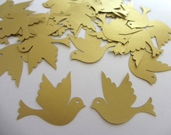 Paper doves 35 die cut doves die cut birds wedding decorations scrapbooking weddings gold doves
