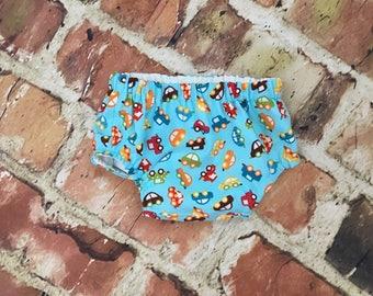 Boy Seersucker diaper cover - bloomer - boy diaper cover - pants - boy cover - Monogram - Initials - light blue - handmade - photo shoot