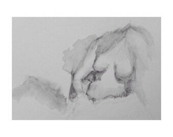 Figure - 7x10, graphite/wash on paper