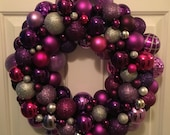 Purple Wreath with Lights...