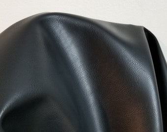 """Black """"Optima"""" Faux Vegan leather Pleather sold by the yard 36 inches x 54 inches wide Synthetic  sold by the yard, - 1 to 5 yards"""
