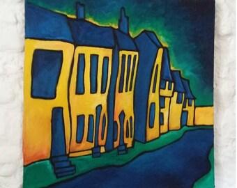 "Original Oil Painting, Original Landscape Painting, Art Expressionism, Original Oil Painting Canvas 30""x30"" Impressionist Art Colorist"