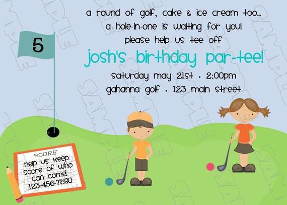 Miniature golf putt putt birthday party printable invitations filmwisefo