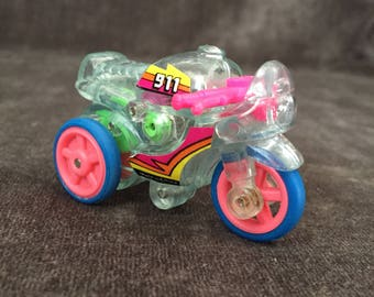 Yct mct clear 3 wheel motorcycle toy w gears