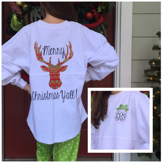 items similar to monogram christmas shirt  christmas shirts  pom pom pullover  jersey
