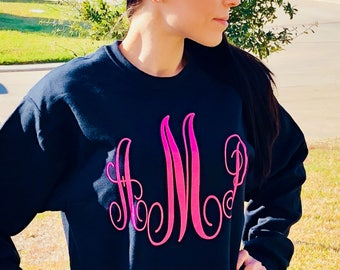 Monogrammed pull over sweat shirt!