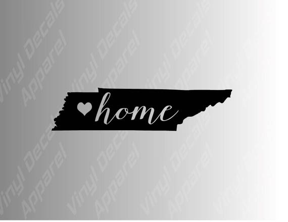 Tennessee home state die cut vinyl decal sticker for cars laptops yeti decals etc from finelinefx on etsy studio