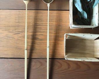 wooden ladle / Japanese ladle / bamboo tea service matcha ladle