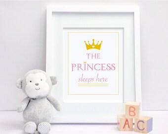 The Princess Sleeps Here - Digital Print