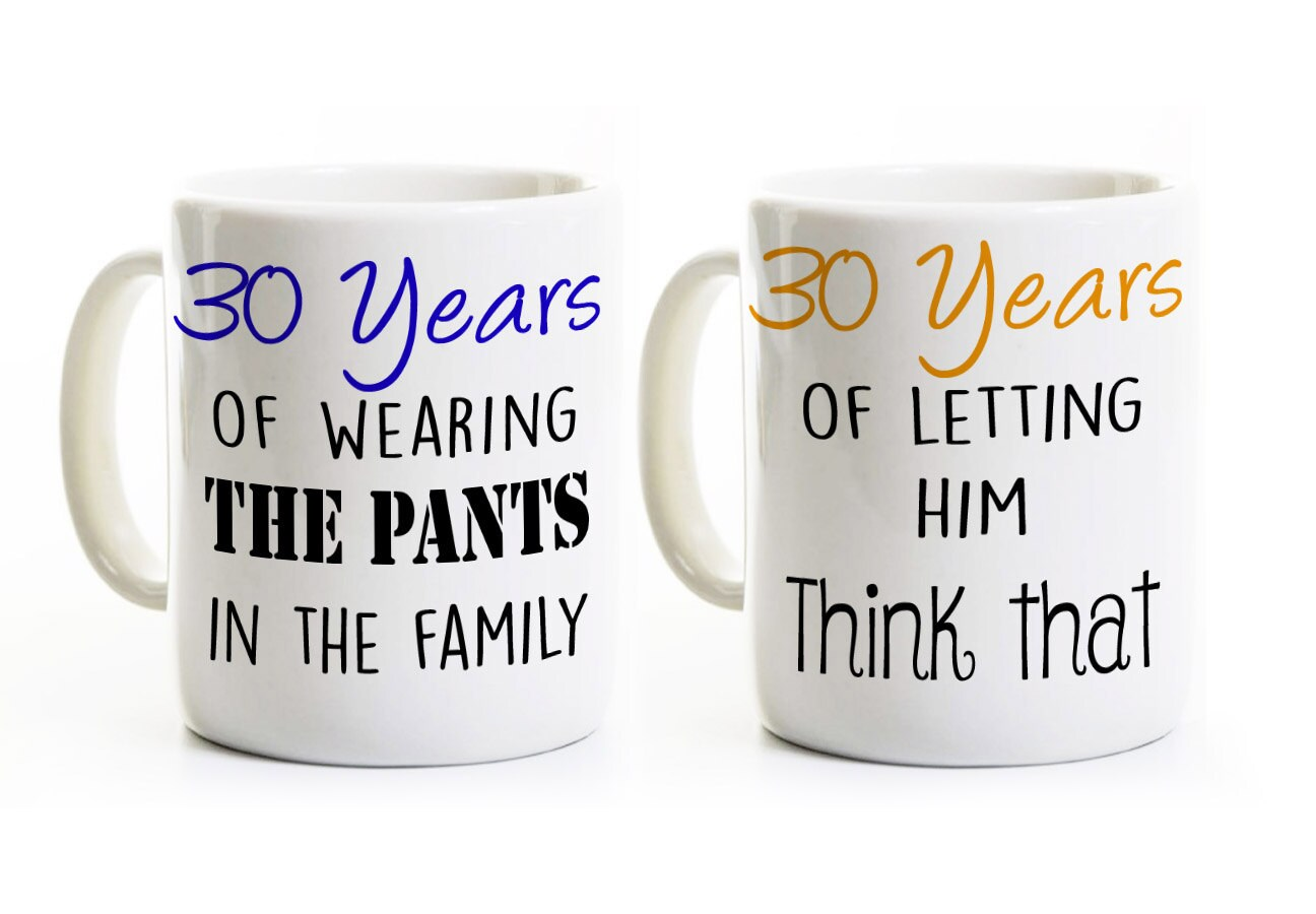 Gifts For 30th Wedding Anniversary Couple: 30th Anniversary Gift Couples Coffee Mugs Cups His And