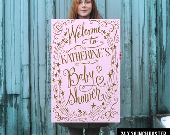 Baby Shower Welcome Sign - Baby Shower Welcome Poster - Baby Shower Sign - Baby Shower Poster