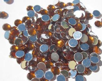180 flat rhinestone paste amber 4 mm (A44)