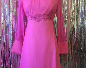 Pink 1970s Gown