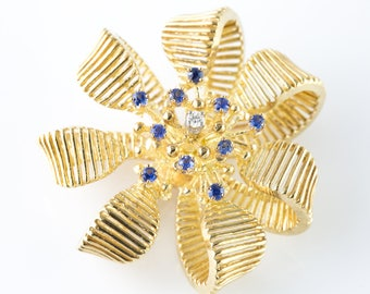 Diamond and Sapphire Broach