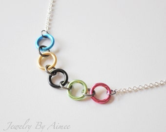 Olympic Rings - Games Inspired necklace