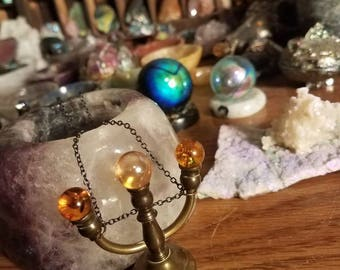 Crystal spheres necklace