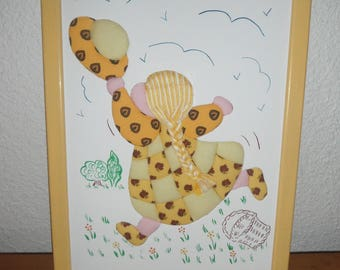 Frame for child with pattern cotton fabric