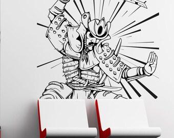 Vinyl Wall Decal Sticker Samurai In Action 1497s