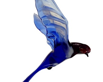 decorative, interior, for hanging on chandelier, figurine, colored glass, mobile bird, art swallow Vor