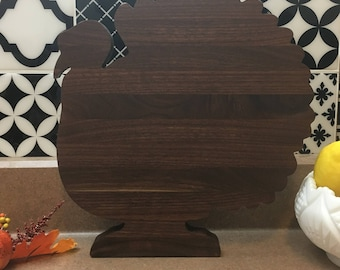 Cutting Board Walnut Turkey Cutting Board Gift Wrap/ Box Available Thanksgiving
