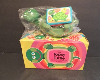 Avon Topsy Turtle Floating Soap Dish and Soap NIB NOS Vintage Avon Gifts