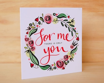 Friendship card - Hand Lettered Card | Floral Greeting Card | Floral Stationery