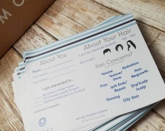 IN STOCK now- PRINTED Monat Event Questionnaire - Information form - hair type, style, partner request, etc