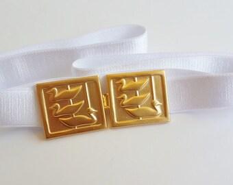 White Belt - Bridal Waist Belt - Wedding Accessories - Wedding Sash - Bridal Accessories - Wedding Dress Belt - Bridal Belt - Wedding Belt