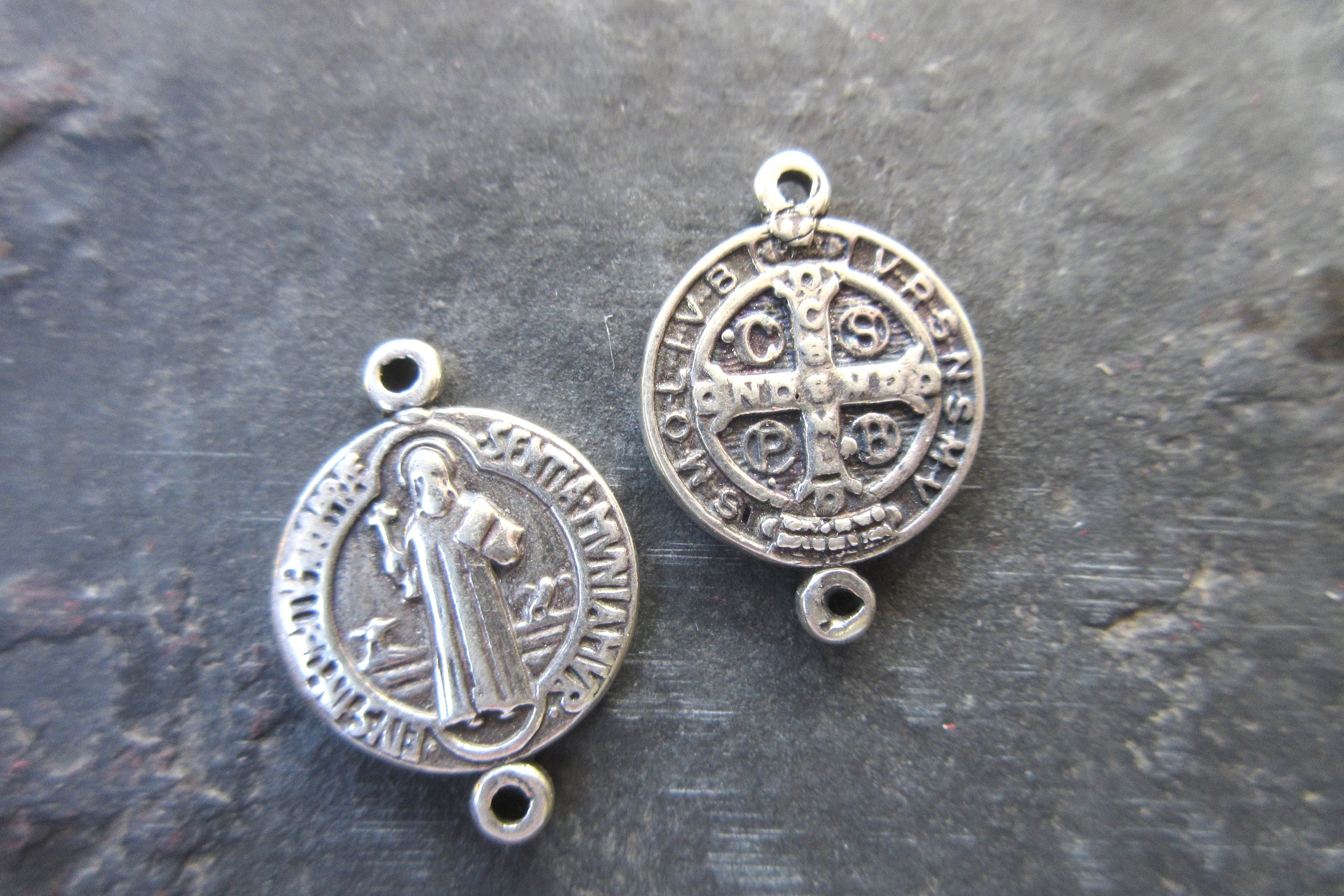 by etsy made of st rosariesfrompoland on in assembled bracelet medallion benedict pin medallions poland rosary