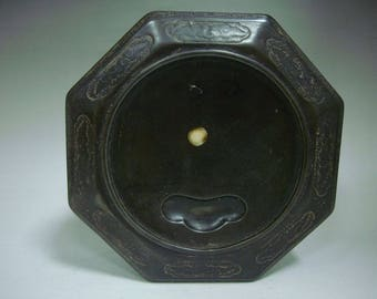 3.6kg Old Chinese Hand Carved the Eight Diagrams Ink Stone InkSlab Marks