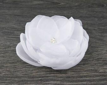 White flower brooch etsy white wedding white hair clip white hair flower white fascinator white hair mightylinksfo