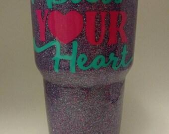 30 oz Bless Your Heart Glitter Tumbler