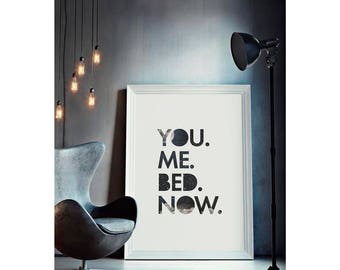 You.Me.Bed - Gallery print or canvas