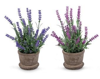 Lavender Artificial Mini Potted Plants