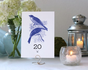 Bird Nature Romantic Pretty Wedding Table Number Marker Tree
