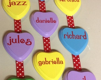 Personalized Conversation Heart Hanger. Valentine's Day