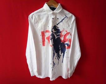 vintage polo ralph lauren big logo medium mens t shirt