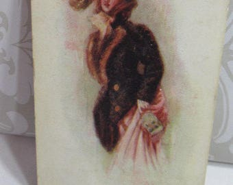 Beautiful Lady; The Shopping Girl; 1907 post card to Grandmother;