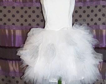 Asymmetrical bride dress Froufrou model