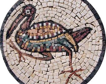 Duck Stone Mosaic Medallion