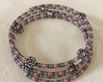 Spring Colors Wraparound Bracelet