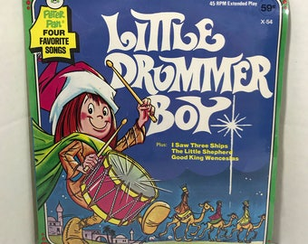 "The Little Drummer Boy vintage record SEALED Peter Pan Records 7"" vinyl Christmas"