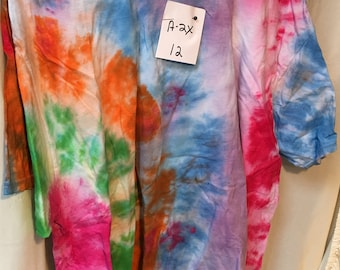 Tie Dyed T-Shirt Adult 2X  (A2x-12)