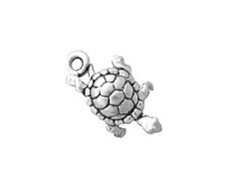 10 Turtle Charm Sterling Silver SP801