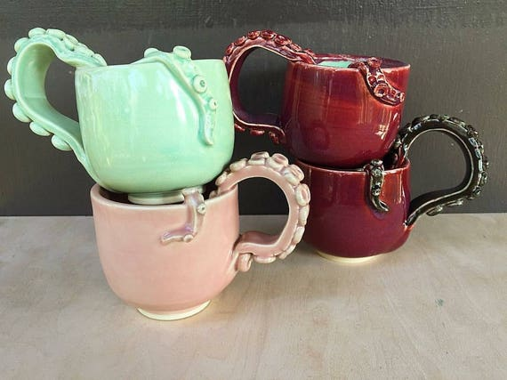 Made to Order Octopus Tentacle Handle Mug