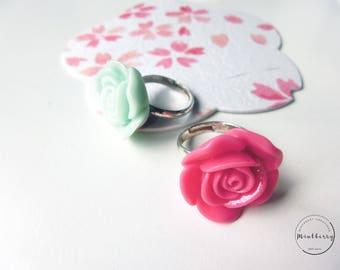 Rose Ring Mint Pink